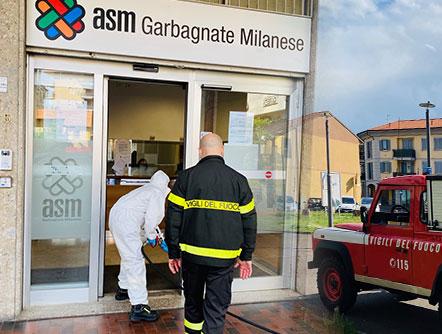 Sanificazione ingresso ASM